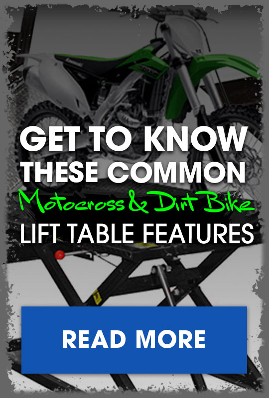 Dirt Bike Lift Table Features