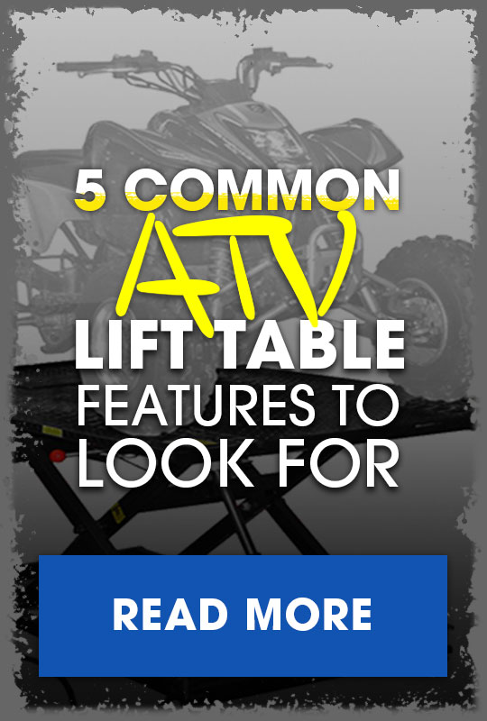 ATV Lift Table features