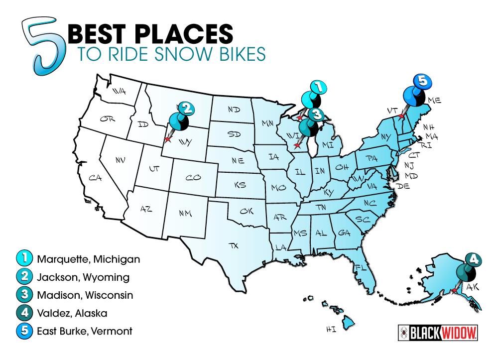5 Best PLaces to Ride Snow Bikes