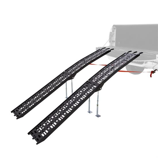 AFP-9012-2-DL-B 7 55 Arched Folding Dual Runner ATV Ramps with Support Legs