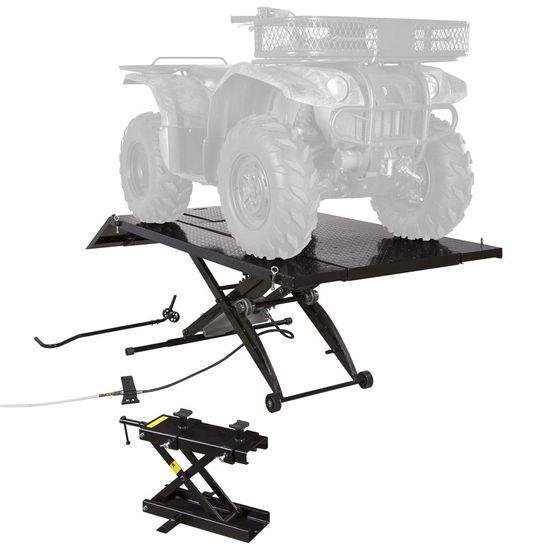BW-1000A-XW-ATV Pneumatic ATV Lift Table Wide