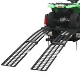 BW-DBL-ATV-HD Aluminum Extra-Wide 4-Beam Arched Dual Runner Folding ATV Ramps