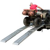 MF2-EZ-ATVN Aluminum Arched Folding Dual Runner ATV Ramps with Punch Plate Traction