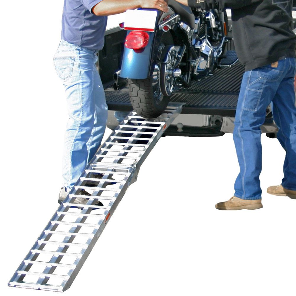 AF-9012-HD 7 5 Heavy Duty Arched Folding Motorcycle Ramp