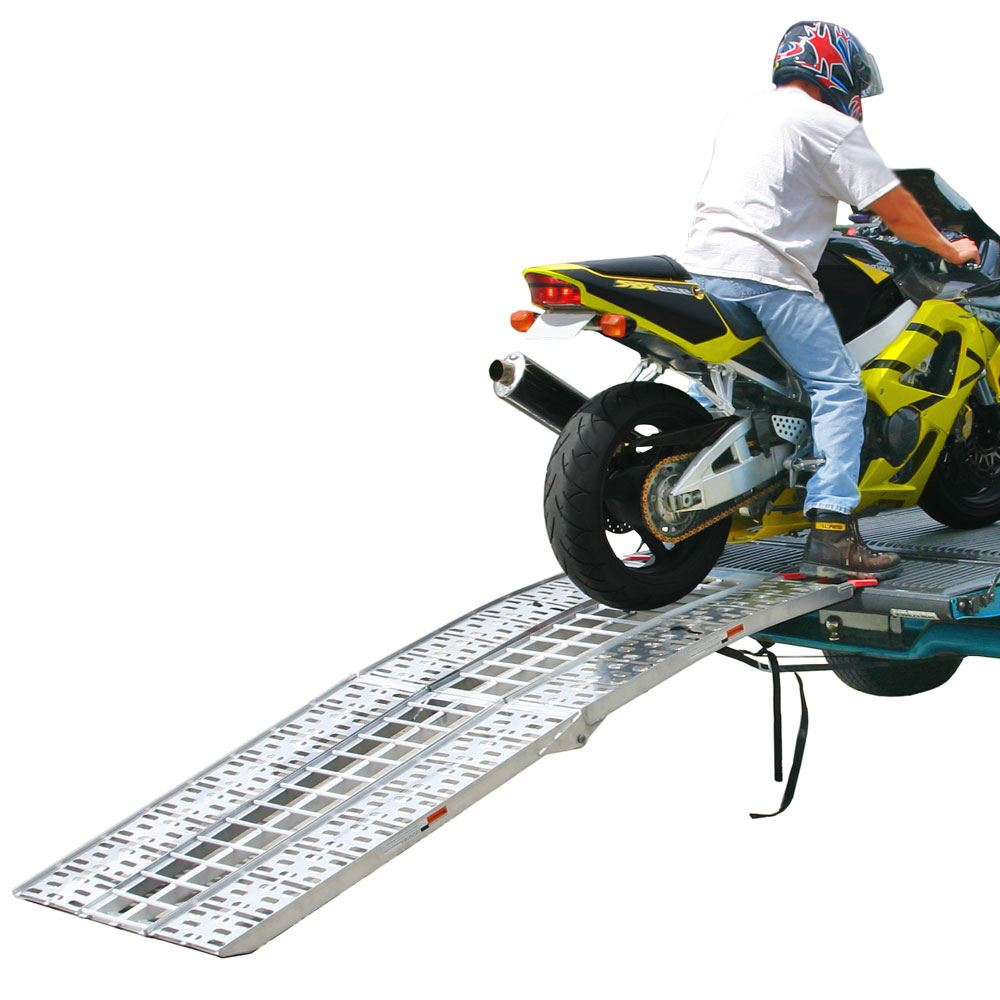 AF-9034-HD 7 6 3-Piece Arched Folding Motorcycle Ramp