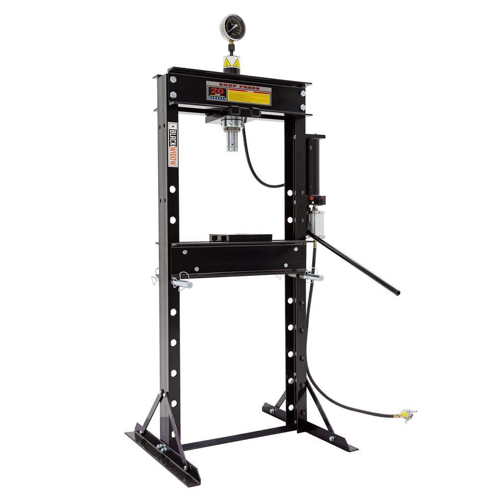 BD-PRESS-20A 20-Ton Air-Operated Shop Press