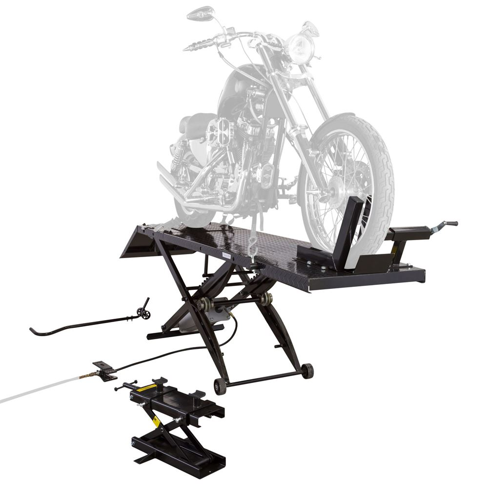 BW-1000A-XL Extra-Long Pneumatic Motorcycle Lift Table