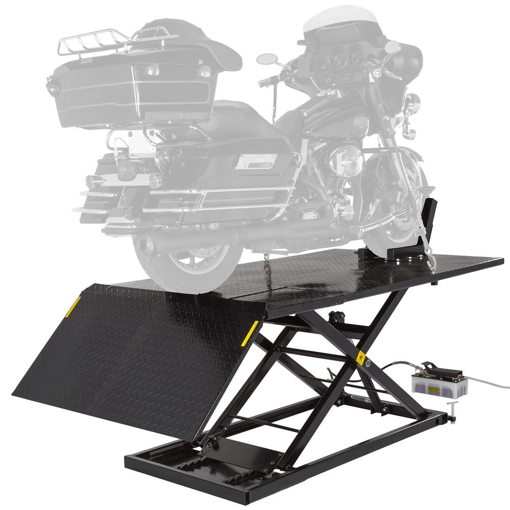 BW-1500AO-V2-MC AirHydraulic Motorcycle Lift Table Wide