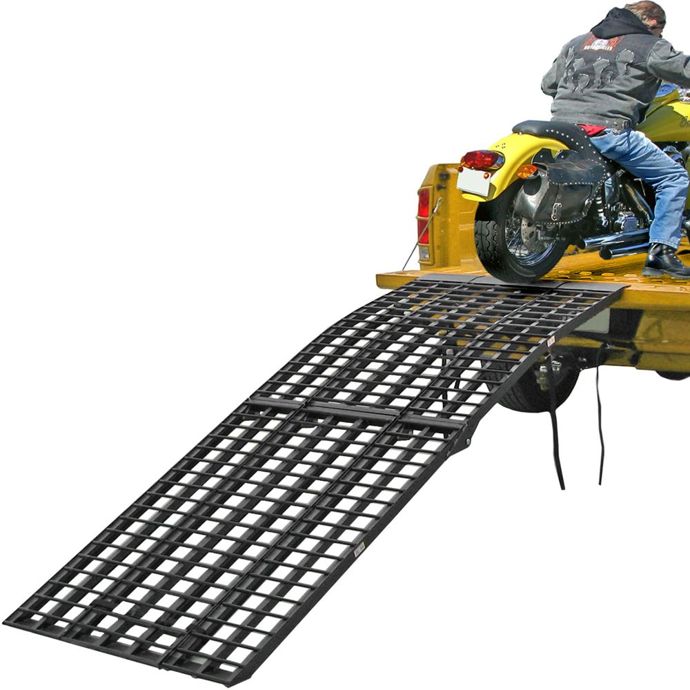 BW-40-AMR Aluminum Tri-Fold Arched Folding Motorcycle Ramp