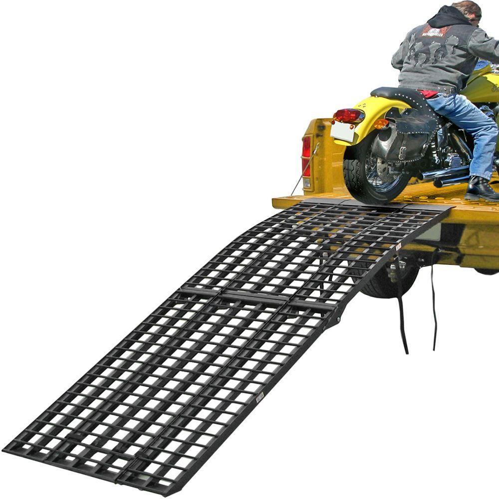 BW-9440-HD 7 10 Tri-Fold Arched Folding Motorcycle Ramp