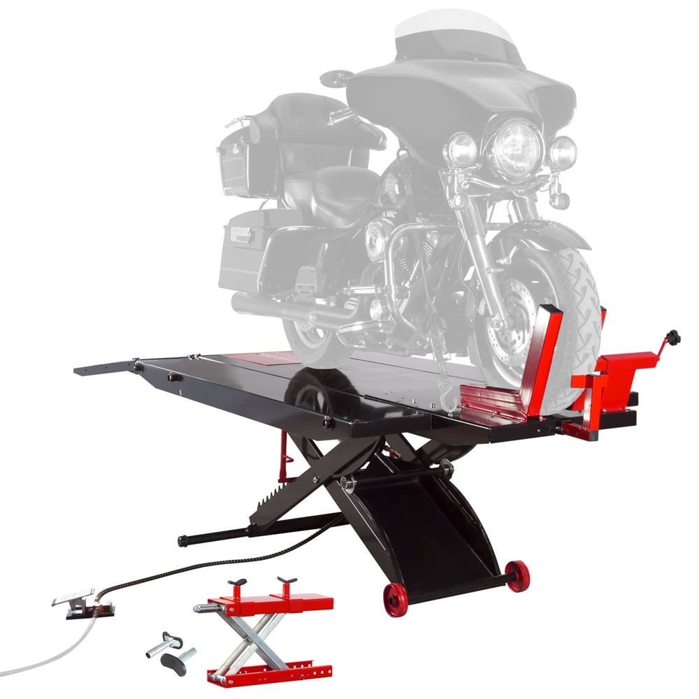 BW-PROLIFT-HDXW Air-Operated ProLift Motorcycle Lift Table with Center Jack