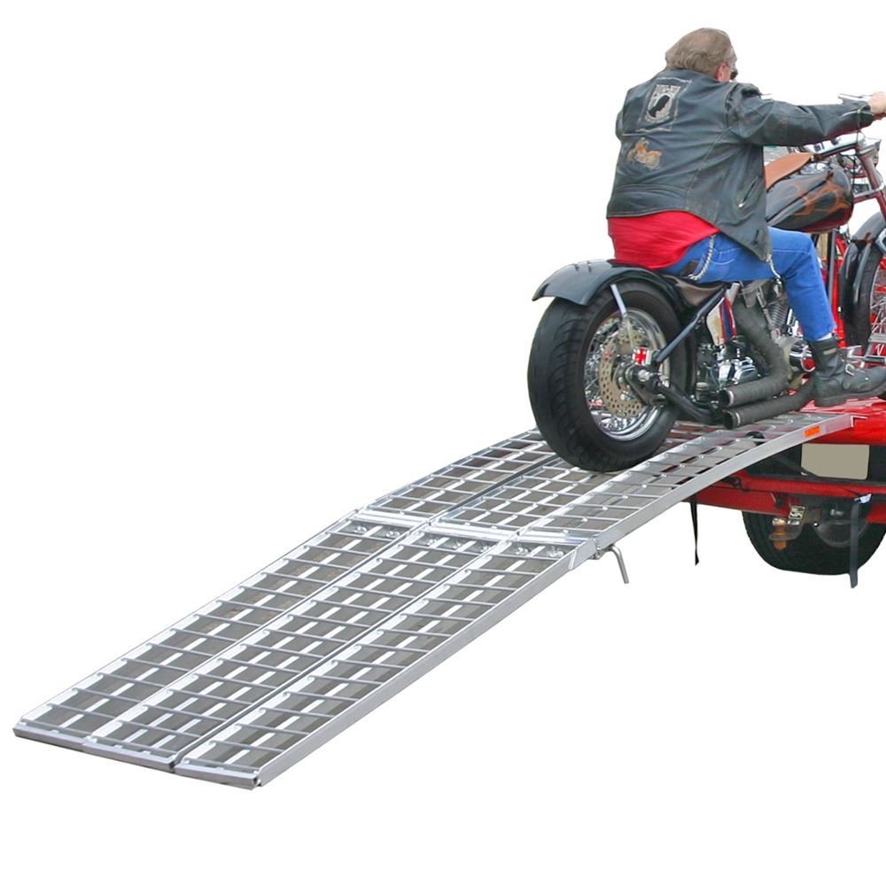 MF-12038 10 Tri-Fold Arched Folding Motorcycle Ramp