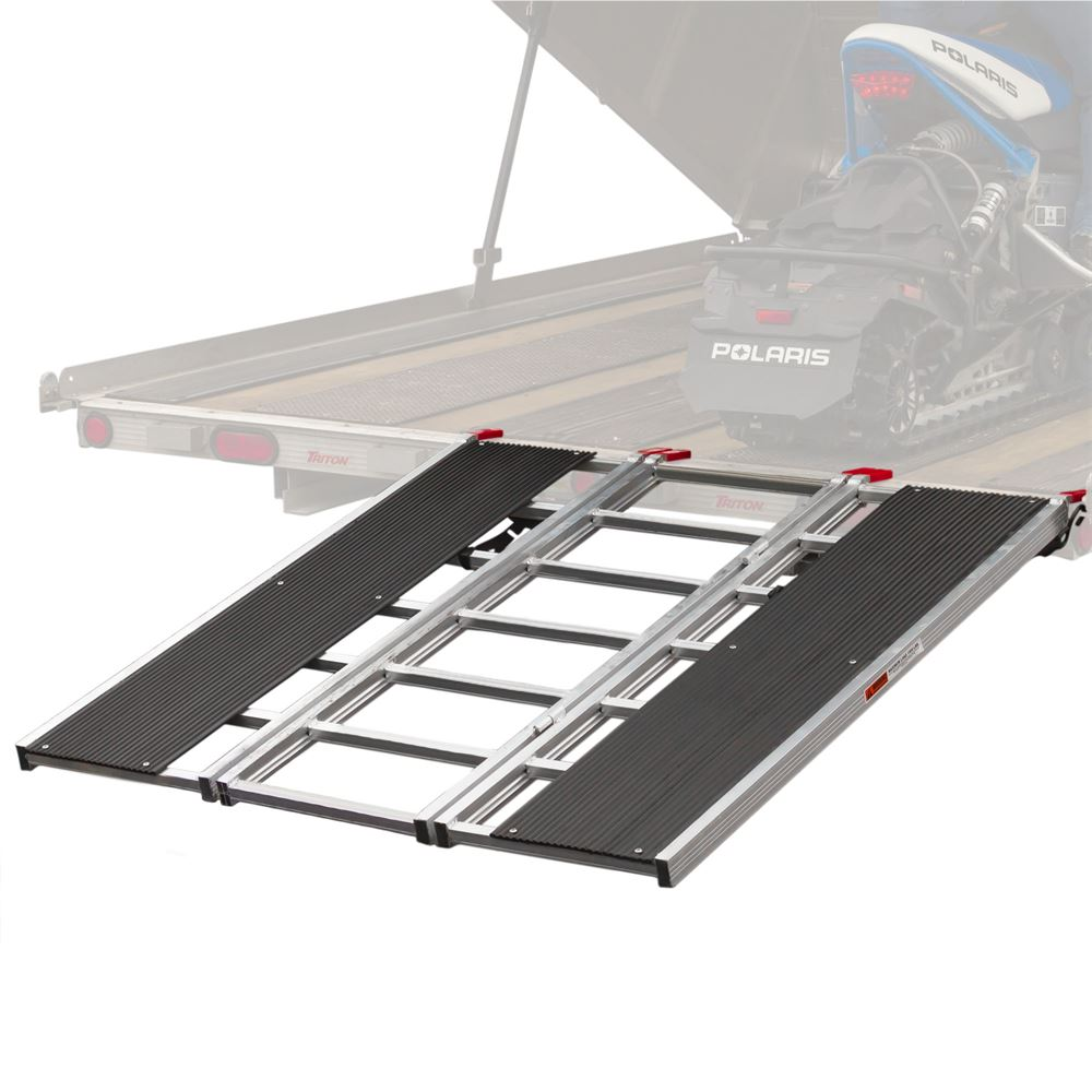 SNO-6054-HDXW Black Ice 5 Tri-Fold Snowmobile Trailer Ramp