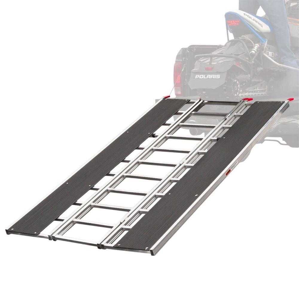 SNO-9454-HDXW 7 10 Black Ice Tri-Fold Snowmobile Ramp