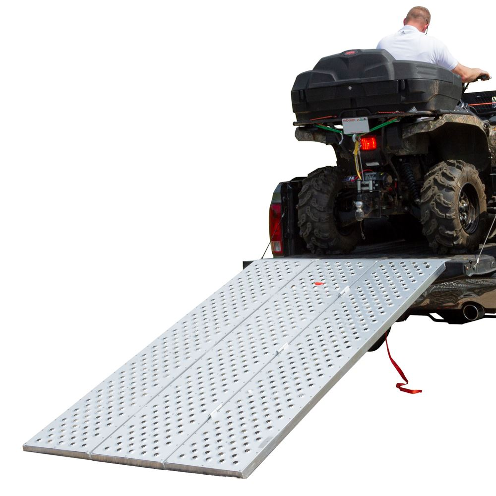 TFP-RAMP Aluminum Tri-Fold ATV Ramp with Punch Plate Traction